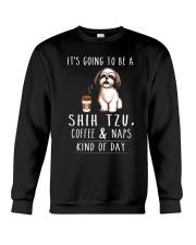 Shih Tzu Coffee and Naps Crewneck Sweatshirt thumbnail