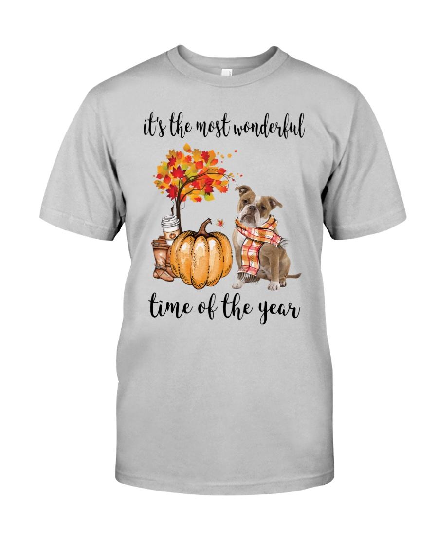 The Most Wonderful Time - Old English Bulldog Classic T-Shirt