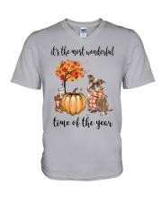 The Most Wonderful Time - Old English Bulldog V-Neck T-Shirt thumbnail