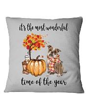 The Most Wonderful Time - Old English Bulldog Square Pillowcase thumbnail