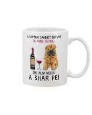 Wine and Shar Pei 2 Mug thumbnail