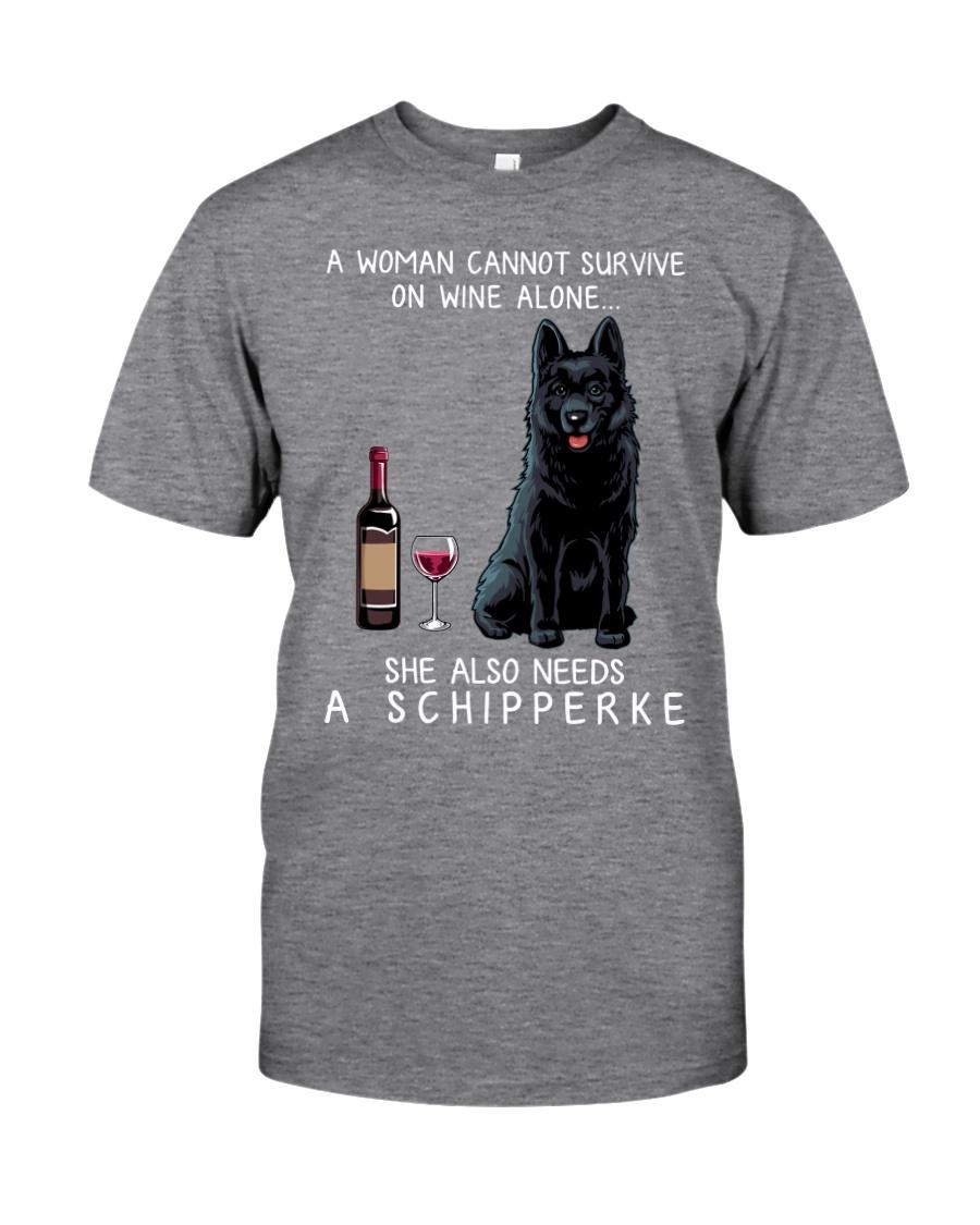 Wine and Schipperke Classic T-Shirt