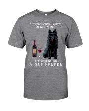 Wine and Schipperke Classic T-Shirt front