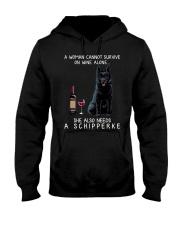 Wine and Schipperke Hooded Sweatshirt thumbnail