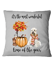 The Most Wonderful Time - Wheaten Terrier Square Pillowcase thumbnail