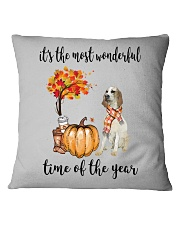 The Most Wonderful Time - Porcelaine Square Pillowcase thumbnail