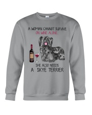 Wine and Skye Terrier 2 Crewneck Sweatshirt thumbnail
