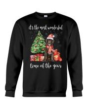 The Most Wonderful Xmas - Chocolate Labrador Crewneck Sweatshirt thumbnail