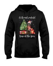 The Most Wonderful Xmas - Chocolate Labrador Hooded Sweatshirt thumbnail