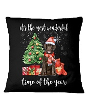 The Most Wonderful Xmas - Chocolate Labrador Square Pillowcase thumbnail