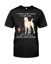 Wine and Central Asian Shepherd Classic T-Shirt front