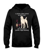 Wine and Central Asian Shepherd Hooded Sweatshirt thumbnail