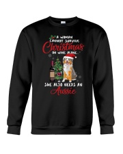 Christmas - Wine and Aussie Crewneck Sweatshirt thumbnail