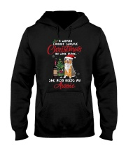 Christmas - Wine and Aussie Hooded Sweatshirt thumbnail