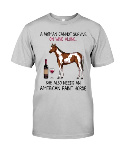 Wine and American Paint Horse 2