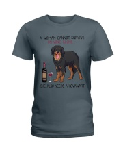 Wine and Hovawart 2 Ladies T-Shirt thumbnail