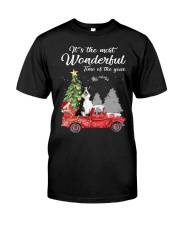 Wonderful Christmas with Truck - Border Collie Classic T-Shirt front