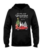 Wonderful Christmas with Truck - Border Collie Hooded Sweatshirt thumbnail