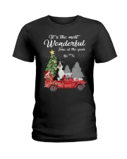 Wonderful Christmas with Truck - Border Collie Ladies T-Shirt thumbnail