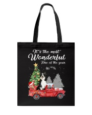 Wonderful Christmas with Truck - Border Collie Tote Bag thumbnail