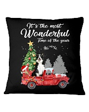 Wonderful Christmas with Truck - Border Collie Square Pillowcase thumbnail