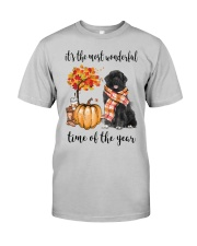 The Most Wonderful Time - Black Newfoundland Classic T-Shirt front