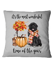 The Most Wonderful Time - Black Newfoundland Square Pillowcase tile