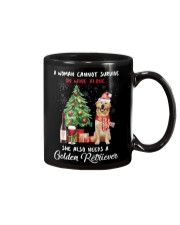 Christmas Wine and Golden Retriever Mug thumbnail