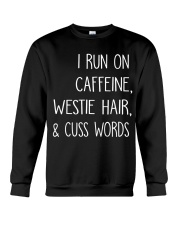 Caffeine and Westie Crewneck Sweatshirt thumbnail