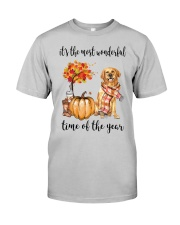 The Most Wonderful Time - Golden Retriever 2 Classic T-Shirt front