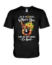 German Shepherd Be Kind V-Neck T-Shirt thumbnail