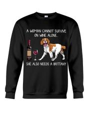 Wine and Brittany Crewneck Sweatshirt thumbnail