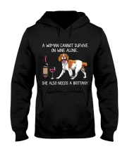 Wine and Brittany Hooded Sweatshirt thumbnail