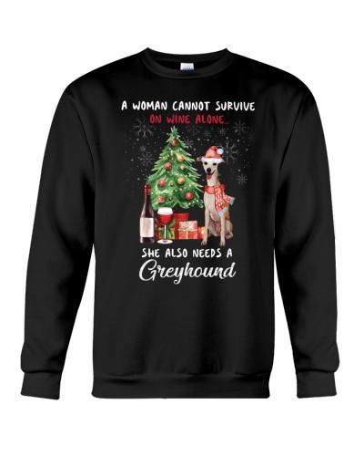 Christmas Wine and Greyhound
