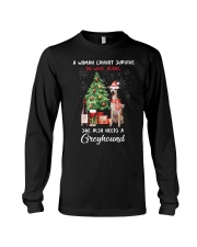 Christmas Wine and Greyhound Long Sleeve Tee thumbnail
