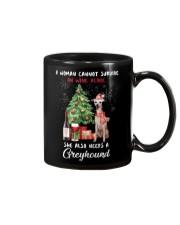 Christmas Wine and Greyhound Mug thumbnail