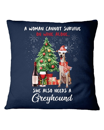 Christmas Wine and Greyhound