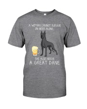 Beer and Great Dane 2 Classic T-Shirt front