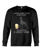 Beer and Great Dane 2 Crewneck Sweatshirt thumbnail