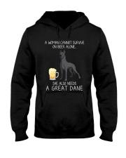Beer and Great Dane 2 Hooded Sweatshirt thumbnail