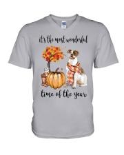 The Most Wonderful Time - American Bulldog V-Neck T-Shirt thumbnail