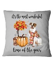 The Most Wonderful Time - American Bulldog Square Pillowcase thumbnail