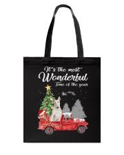 Wonderful Christmas with Truck - Bull Terrier Tote Bag thumbnail