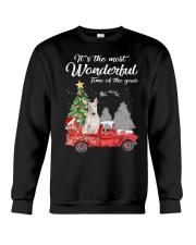 Wonderful Christmas with Truck - Bull Terrier Crewneck Sweatshirt thumbnail