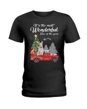 Wonderful Christmas with Truck - Bull Terrier Ladies T-Shirt thumbnail