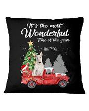 Wonderful Christmas with Truck - Bull Terrier Square Pillowcase thumbnail