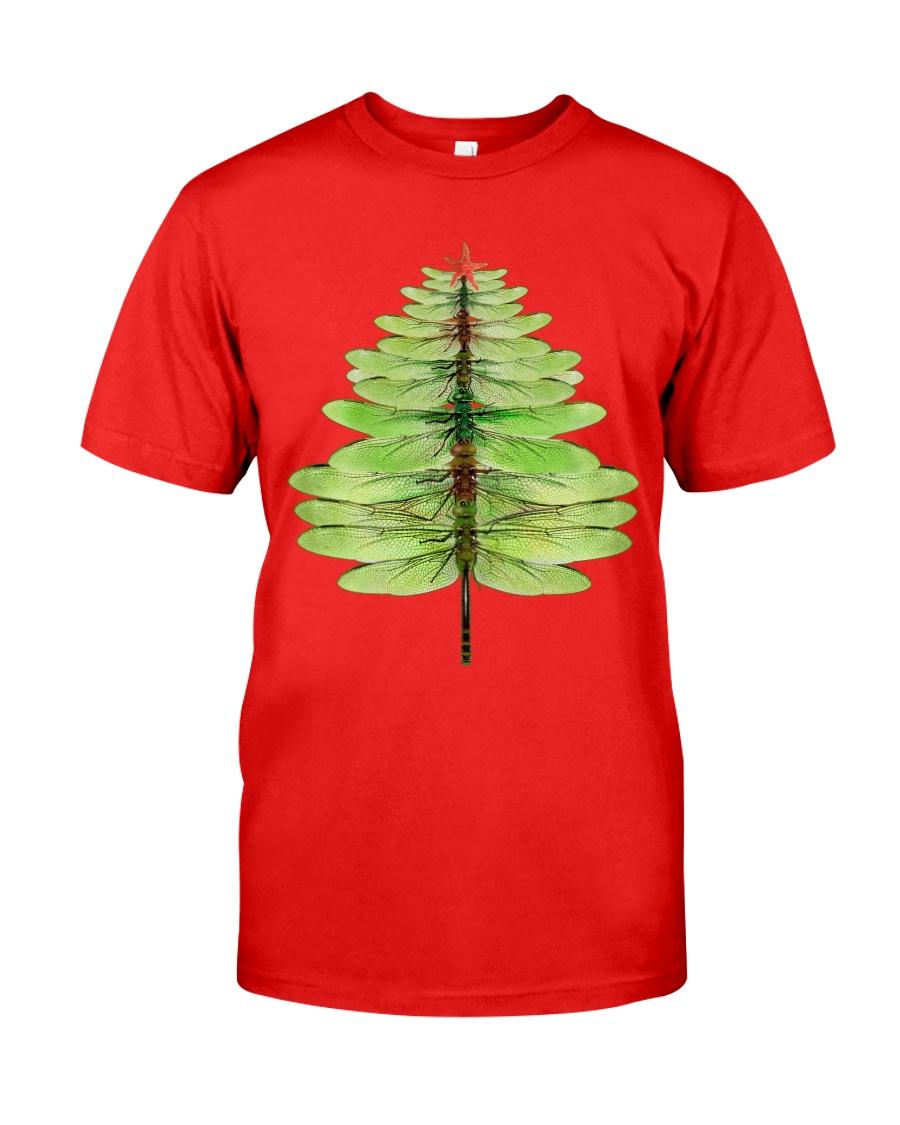 Dragonfly Christmas Tree Classic T-Shirt
