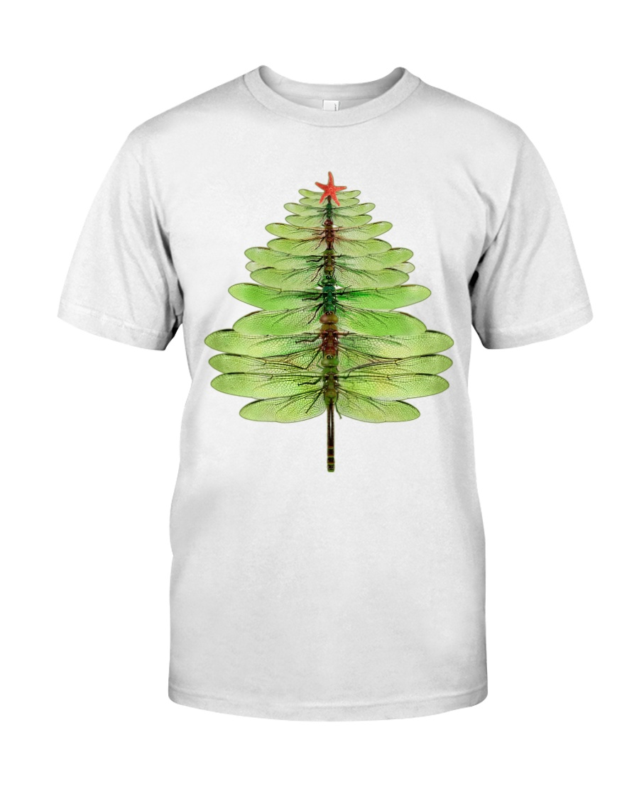 Dragonfly Christmas Tree Classic T-Shirt