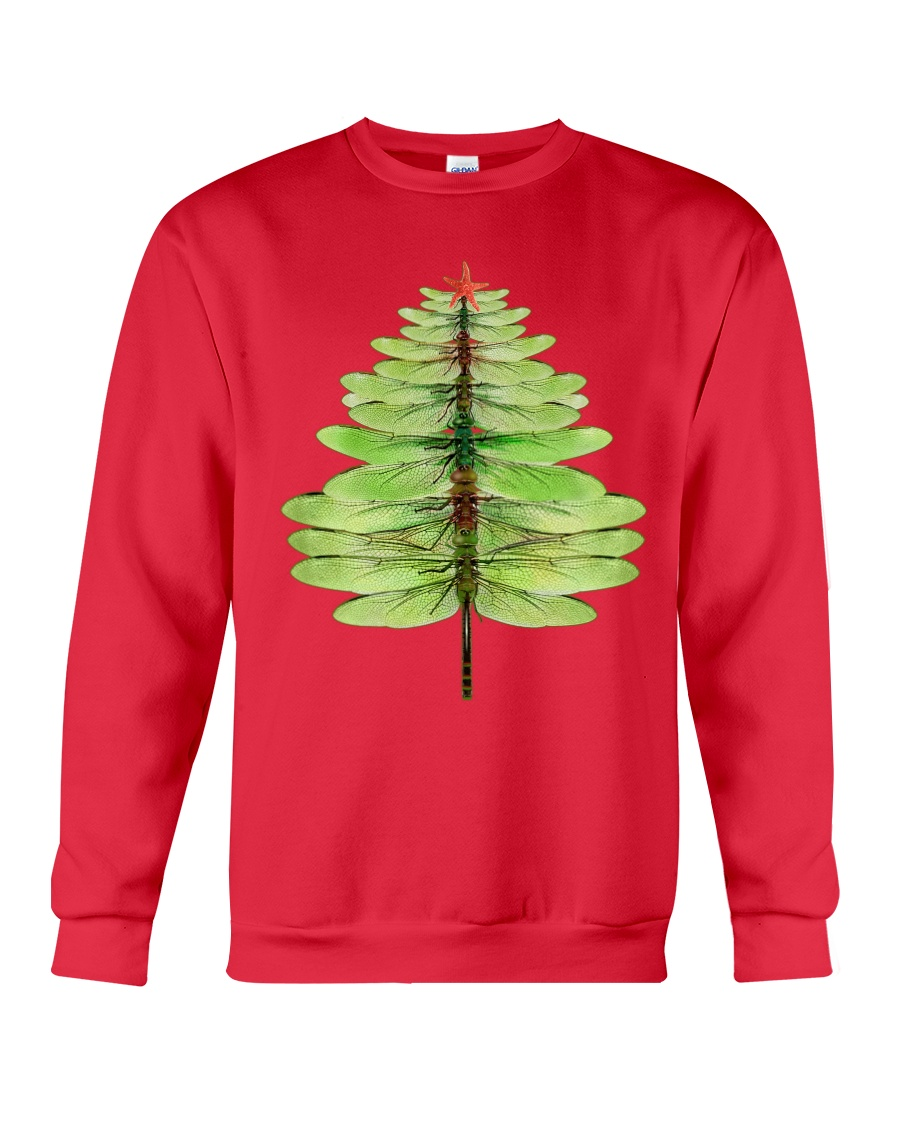 Dragonfly Christmas Tree Crewneck Sweatshirt