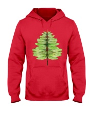 Dragonfly Christmas Tree Hooded Sweatshirt front